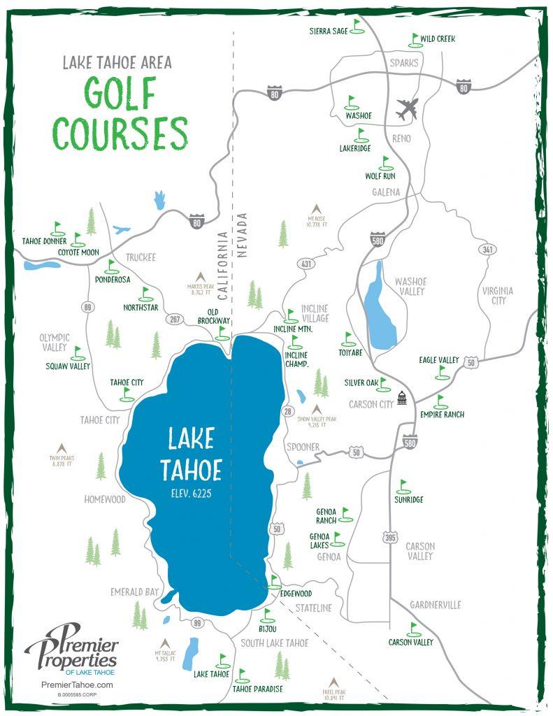 Lake Tahoe Golf Course Map
